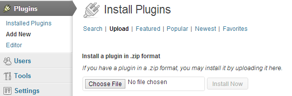 Upload WordPress plugin from the WordPress Admin Panel