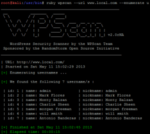 How to Enumerate WordPress Users with WPScan