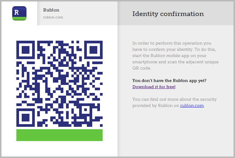 QR Code on Rublon Website