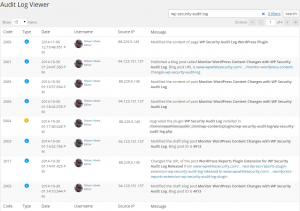 Text Based Searches and Filters for WordPress Activity Audit Log