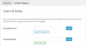 Exclude WordPress Users & Roles from WordPress Monitoring