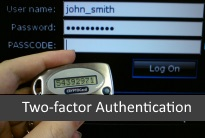 One time code generator for two-factor authentication