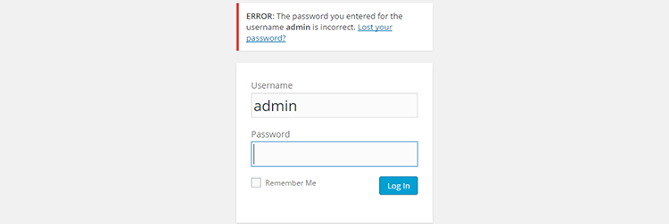 Dealing with Failed Logins on Your WordPress
