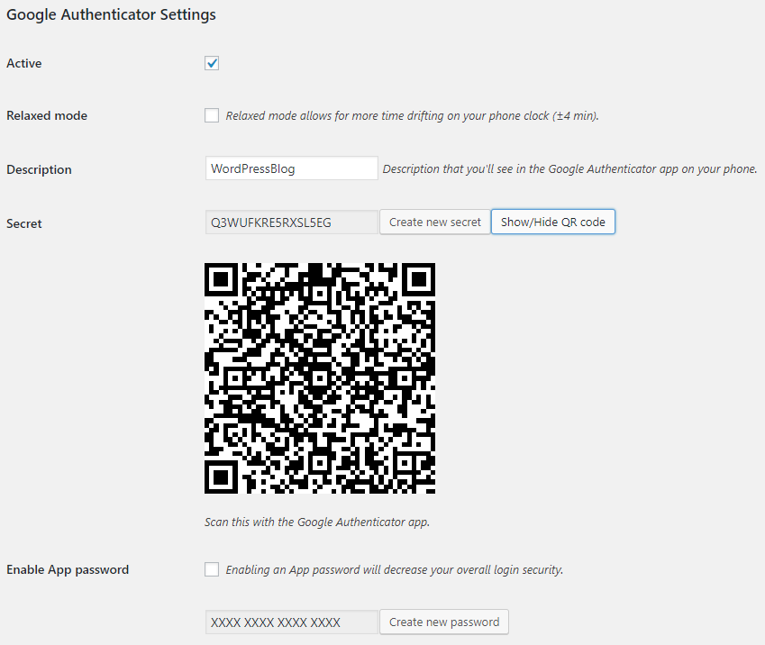 Configuring the Google Authenticator plugin