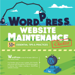 Infographic About 50+ Ongoing WordPress Website Maintenance Tasks for All Businesses