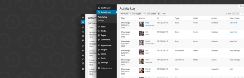 Activity Log WordPress plugin