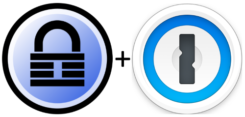 Keepass and 1Password logos
