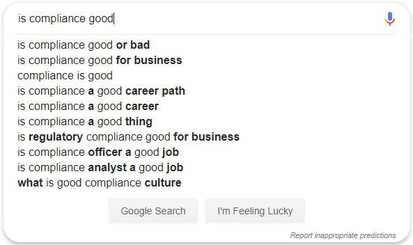 Compliance search on Google