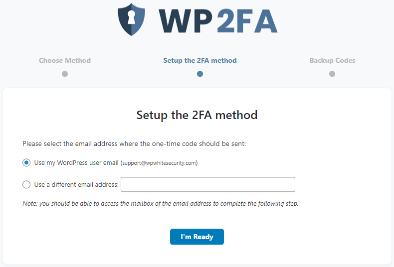 Use email for 2FA one-time codes