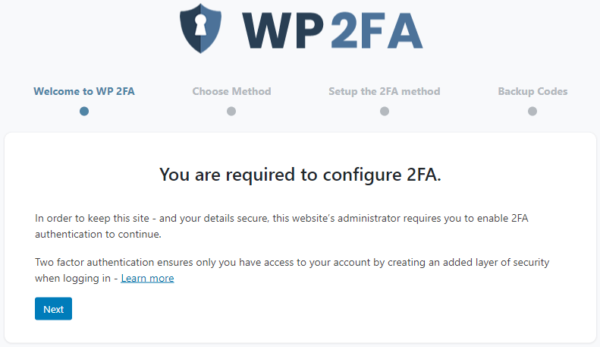 Require users to setup and use 2FA instantly