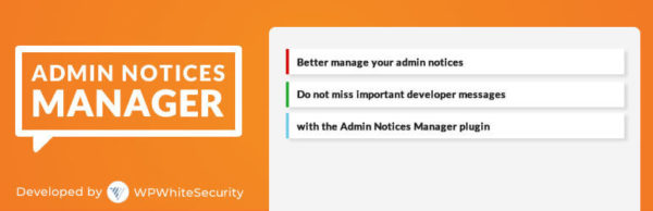 Admin Notices Manager banner