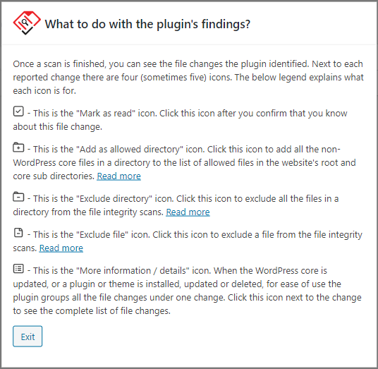 When the plugin reports a file change, you have all these options to work with.