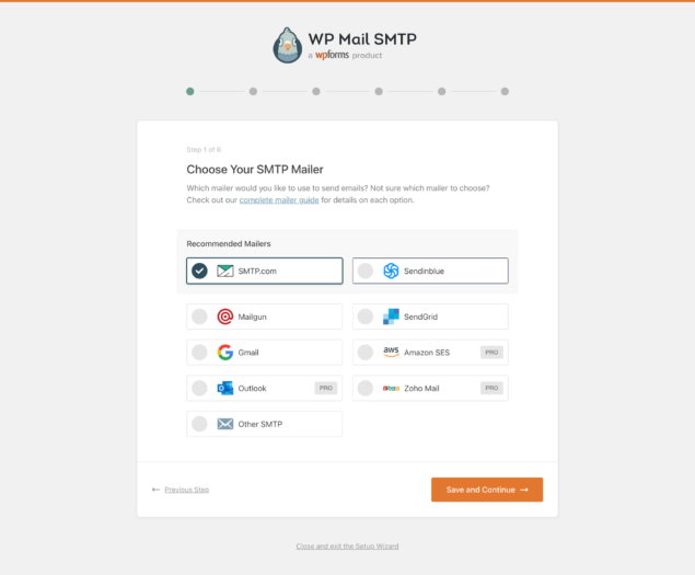Integrating WordPress with an Email service / SMTP server